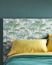 Papier peint AMAZONIA, vinyle sur intissé exotique, vert trèfle | Saint Maclou