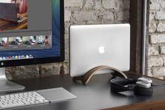 Twelve South Bookarc Mod – Vertical Stand For Macbook, Walnut - $79