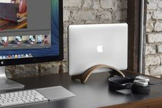 Twelve South Bookarc Mod – Vertical Stand For Macbook, Walnut - $79