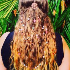 Steampunk - Headpiece - Tribal - Bohemian - Long hair <3 Recycled