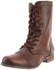 New Steve Madden Womens Troopa Brown Leather Boots US NIB