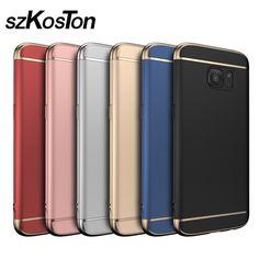 For Samsung S7 case Samsung Galaxy S7 Edge case cover hard back protection S7edge capas coque blue gold original s8 S8 plus cove