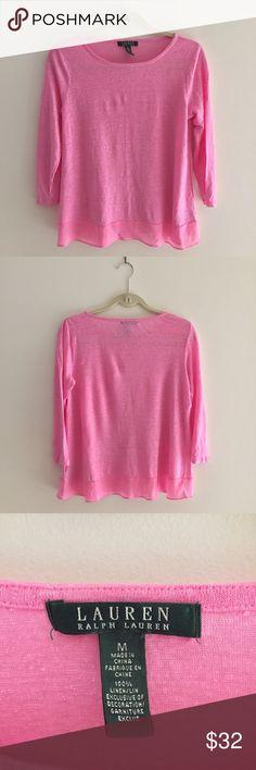 Ralph Lauren shirt Pink lovely shirt  worn only one time  , great for summer Ralph Lauren Tops