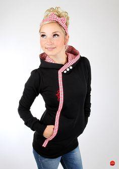 """Hoodies - MEKO Hoodie """"HIFI_1/6KK/6BWeiß"""" - ein Designerstück von meko bei DaWanda Sewing Clothes, Diy Clothes, Clothes For Women, Diy Fashion, Fashion Outfits, Womens Fashion, Sweat Hoodie, Black Hoodie, Chic Outfits"""