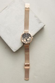 Slide View: 1: Laced Dial Watch