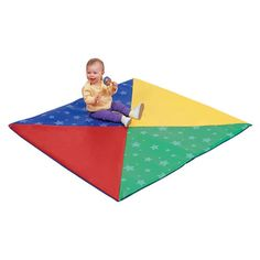Crawley mat builds baby's motor skills and is great for tummy time exercise. Made of thick soft foam covered in durable vinyl. Childrens Hospital, Tummy Time, Motor Skills, Childcare, Beach Mat, Birth, Outdoor Blanket, Activities, Stars