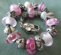 Some new pinks and rose quarts! www.trollbeadsgalleryforum.ning.com