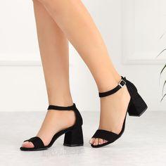Riberto Süet Siyah Kalın Topuk Kadın Ayakkabı #black #sandals #heels Tabata, Peeps, Peep Toe, Shoes, Dresses, Fashion, Vestidos, Moda, Zapatos