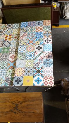 Splash back created for one of our customers in a patchwork design.