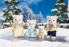 International Playthings Calico Critters Polar Bear Family Playset for sale online Calico Critters Families, Critters 3, Sylvania Families, Dollhouse Accessories, Doll Accessories, Family Set, Little Critter, Baby Sister, Kids Toys