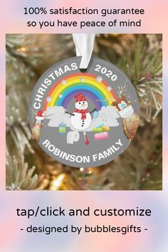 Personalized Christmas Ornaments, Christmas Tree Ornaments, Christmas Holidays, The Special One, How To Make Ribbon, Family Memories, Holiday Tree, Tree Designs, Fairy Lights