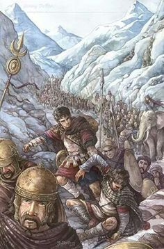The great alpine March of Hannibal Barca Carthage, Ancient Rome, Ancient History, Ancient Persia, Hannibal Barca, War Elephant, Punic Wars, Celtic, Classical Antiquity