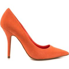 Aldo Women's Haollan - Peach (115 AUD) ❤ liked on Polyvore featuring shoes, pumps, orange, orange shoes, pointed toe high heels stilettos, high heel shoes, pointed toe stiletto pumps and high heel stiletto pumps