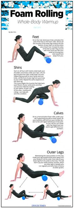 Foam Rolling Whole-Body Warmup Part Legs Foam Rolling Whole-Body Warmup Part Legs Pilates Reformer Exercises, Stretching Exercises, Yoga Fitness, Fitness Tips, Fitness Workouts, Roller Workout, Pilates Roller, Chakra, Foam Roller Exercises
