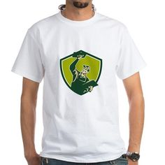 Plasterer Mason Worker Trowel Shield Retro T-Shirt