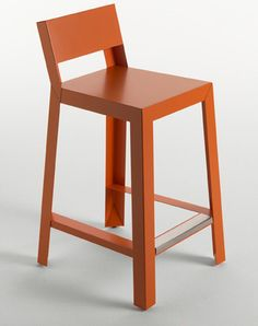 Yu Yu Stool by Casprini: laquered for indoor or galvanized steel for outdoor use.