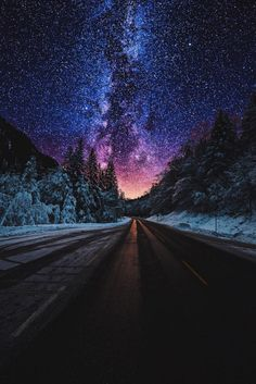 28 Ideas For Wallpaper Paisagem Galaxia Night Sky Wallpaper, Scenery Wallpaper, Landscape Wallpaper, Galaxy Wallpaper, Cool Pictures For Wallpaper, Trendy Wallpaper, Fantasy Landscape, Abstract Landscape, Landscape Paintings