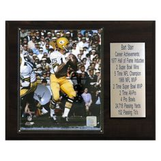 NFL 12 x 15 in. Bart Starr Green Bay Packers Player Plaque - 1215BSTARR