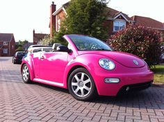 I used to have a yellow one but I've always dreamed of having a pink convertible one