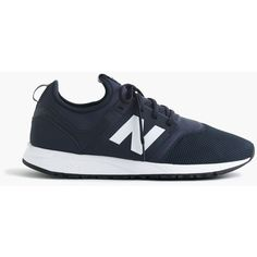 J.Crew New Balance® 247 classic sneakers in royal navy (€75) ❤ liked on Polyvore featuring men's fashion, men's shoes, men's sneakers, navy blue mens shoes, mens navy shoes, j crew mens shoes and mens navy blue sneakers