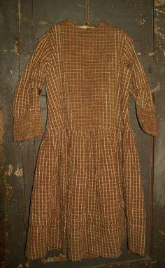 Prairie Child Dress Vintage Antique Textile