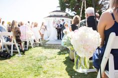 Check out this beautiful, handmade pink + aqua wedding!