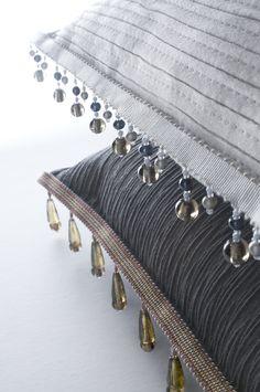 Pillow trim doesn't always mean fringe I The Word on Design: Passementerie Designer: Edward Neer www.edwardneer.com