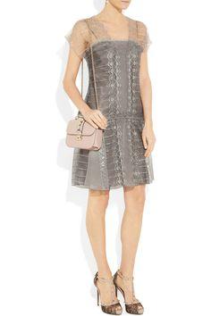 Philosophy di Alberta Ferretti  Embroidered tulle dress