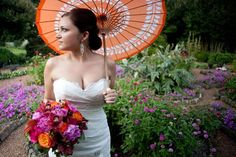 Enchanted Florist Bouquet in Orange and Purple   Nashville Wedding Guide for Brides, Grooms - Ashley's Bride Guide