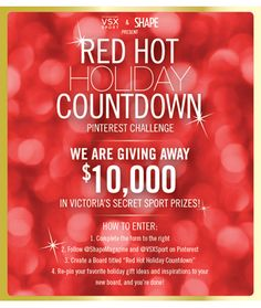 Red Hot Holiday Countdown Pinterest Challenge