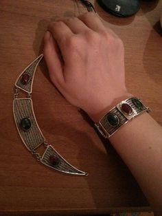 gümüş kolye ve bileklik takımı