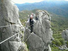 La vía ferrata de Gaucín  GAUCINTIERRA Castillo del Águila #Gaucin