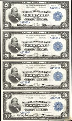 US 10 Dollar Note Series of 1915 Chicago Serial Signatures: Teehee / Burke Farming and Industry Portrait: Andrew Jackson invest 500 billion a year for ten