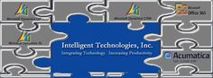 """At Intelligent Technologies Inc. we are known for the tagline """"Integrating Technology, Increasing Productivity.""""  This is much more than a slogan for us though; the products we offer (Microsoft Dynamics GP, SL, CRM, Office 365 and Acumatica Cloud ERP), and our expertise help organizations increase their productivity by automating many of their business processes and integrating systems across multiple functional areas.  Visit our website http://www.inteltech.com to learn more."""