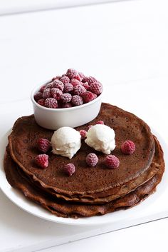 Chocolate crêpe with mascarpone and raspberries  Anna-Maria Barouh  http://www.instyle.gr/recipe/krepes-sokolatas-mascarpone-ke-vatomoura/