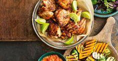 Cook tonight& dinner on the barbecue with this Cajun chicken served with chargrilled pumpkin and zucchini. Healthy Chicken, Chicken Recipes, Healthy Cooking, Cooking Recipes, Tomato Salsa Recipe, Barbecue Recipes, Bbq, Chicken And Vegetables, Food Menu