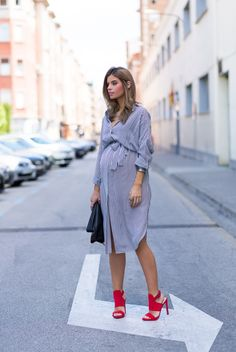 Ms Treinta - Blog de moda y tendencias by Alba. - Fashion Blogger -: 33 weeks: Shirt Dress