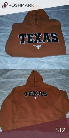 Texas Longhorns This Texas Longhorns sweatshirt is a burnt orange and was purchased at foot locker. Still has life in it! So sport your team pride in this warm sweatshirt! FootLocker Shirts & Tops Sweatshirts & Hoodies