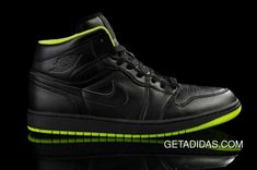 965286224eb Black Green Nike Air Jordan 1 Shoes TopDeals