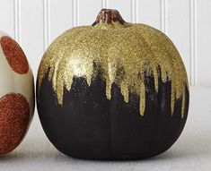 Craft Painting - Scary Chic Glitter Pumpkin