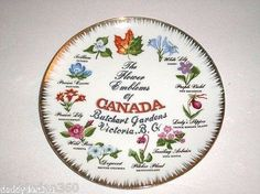 1950s-G-C-Gift-Craft-The-Flower-Emblems-Of-Canada-Butchart-Gardens-Japan