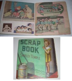 Vintage 1937 Dionne Quintuplet Clipping Scrapbook in Shirley Temple Cover   eBay