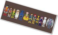 Pixel People - X-Men - PDF Cross-stitch PATTERN. $12.00, via Etsy.
