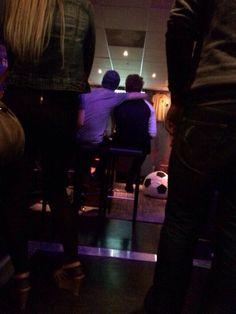 Luke and calum at the bar last night