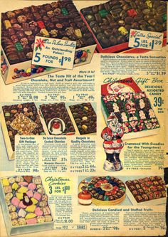 Sears Catalogue 1937 Christmas Cookies and Chocolates