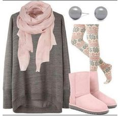 Love Petal Pink & Grey combos!!!! And these leggings are adorable!!!!