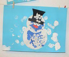 Knutselideeen voor kinderen, rondom het thema winter. Knutselen in de winter en nog meer thema's vind je op deze site