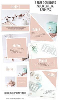 6 free download social media banners - LovelyConfetti