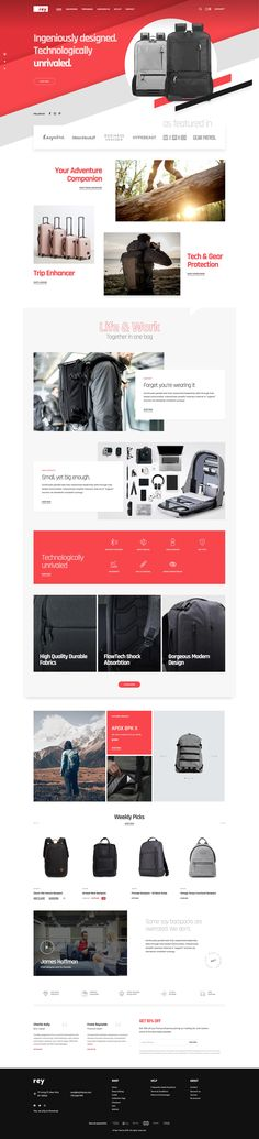 Start a WooCommerce store in just a few minutes. This demo can be used for backpack stores, electronics, accessories and many others. Backpack Store, Electronics Accessories, Apparel Clothing, Carousel, Wordpress Theme, Ecommerce, Web Design, Photoshop, Backpacks