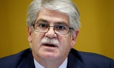 Alfonso Dastis addresses a conference at the United Nations in Geneva